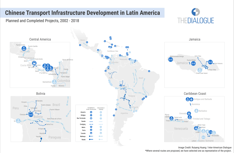 Chinese Map Of America.China S Transport Infrastructure Investment In Lac Five Things To